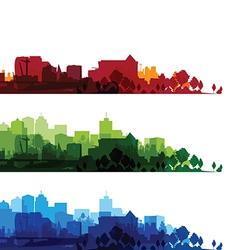cityscape overprinturban summer red home 3d s vector image vector image
