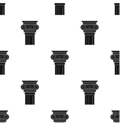 Column icon in black style isolated on white vector