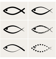 icons fish vector image