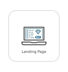 Landing Page Icon Flat Design vector image vector image