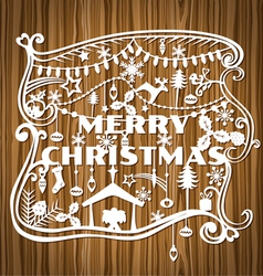 Merry Christmas Greeting Card vector image vector image