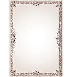 Decorative border frame vector image vector image