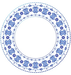 decorative gzhel frame vector image