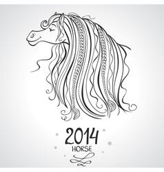 horse horoscope vector image vector image