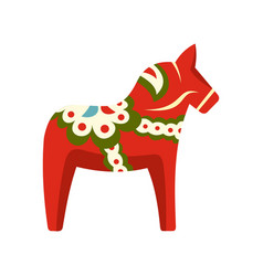 toy horse icon flat style vector image