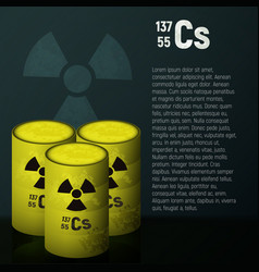 A cask of toxic radioactive waste container vector
