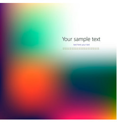 Abstract concept multicolored blurred background vector