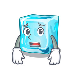 afraid ice cubes set on wiht character vector image