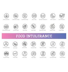 Allergen ingredients icons vector