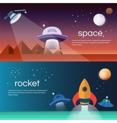 Banners on the space theme vector