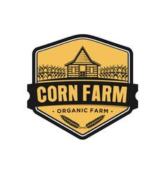 Barn house farming logo design vector
