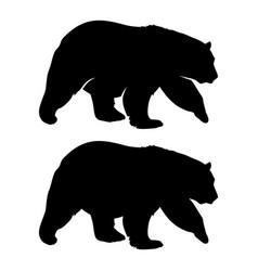 Bear silhouette 002 vector
