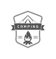 camping logotype vector image