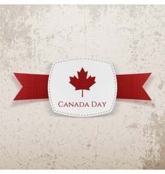 Canada Day festive Emblem with Ribbon vector