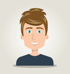 Cartoon man icon face isolated vector