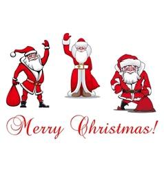 Cartoon Santa Clauses vector