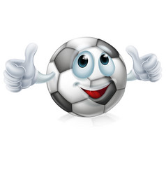 cartoon soccer ball character vector image