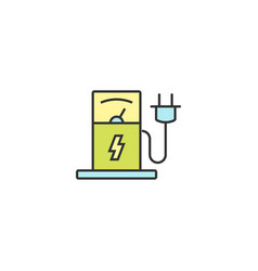 charging station icon vector image
