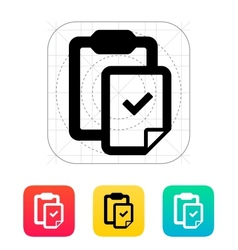 Check file with clipboard icon vector