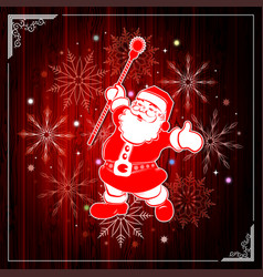 christmas composition with silhouette of wooden vector image