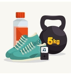 collection elements gym sport vector image