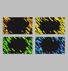 Color abstract business card background set vector
