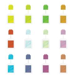 Colored teabag set vector