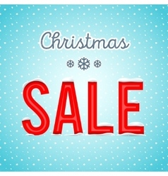 Creative Christmas sale poster with a blue vector