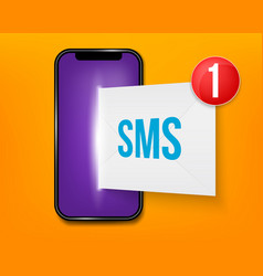 creative of new sms or email vector image