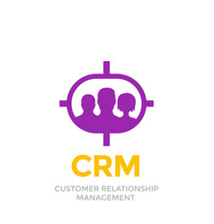 Crm customer relationship management icon vector