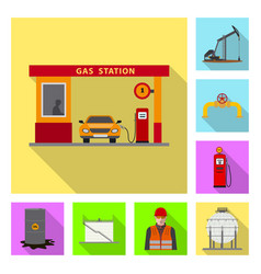 Design oil and gas sign collection of vector
