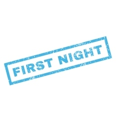 First Night Rubber Stamp vector image