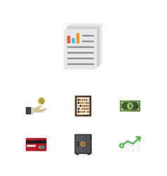 Flat icon incoming set of hand with coin vector