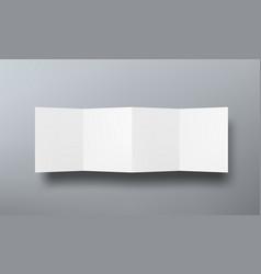 folded paper brochure mock up top view vector image