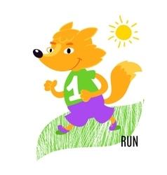 Fox running vector image