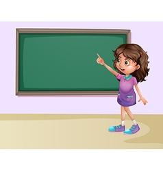 Girl in classroom vector