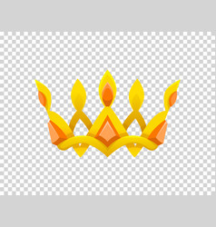 Gold crown icon crown awards for winners vector
