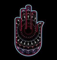 hamsa or fatimas hand used as a sign of protection vector image