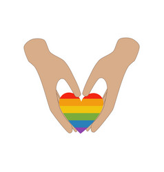 heart in hands same sex love vector image