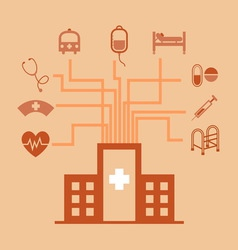 Hospital concept idea in flat style vector image