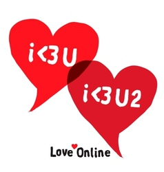 I love You Social Networking Speech Bubbles vector image