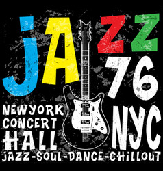 Jazz concert poster design tee graphic vector