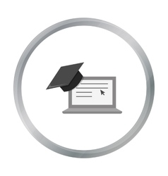 Laptop icon cartoon Single education icon from vector image