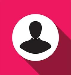 man flat icon vector image