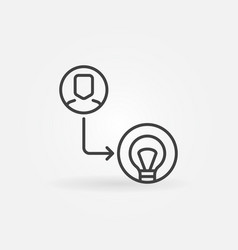 man with light bulb outline icon startup vector image