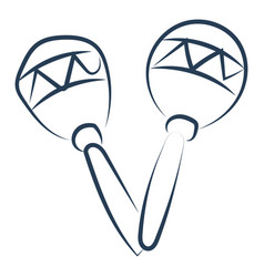maracas drawing on white background vector image