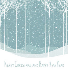 Merry Christmas postcard Calm winter scene vector image