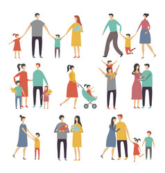 mother father and children vector image