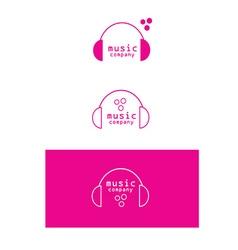 Music headphones logo icon vector image