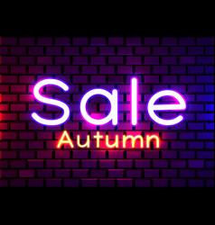 Neon sign word sale on dark background vector